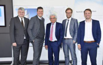 Gruppenbild von Sven Tode, Andreas Dressel, Garabed Antranikian, Anjes Tjarks, René Gögge