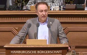 Farid Müller spricht in der Hamburgischen Bürgerschaft